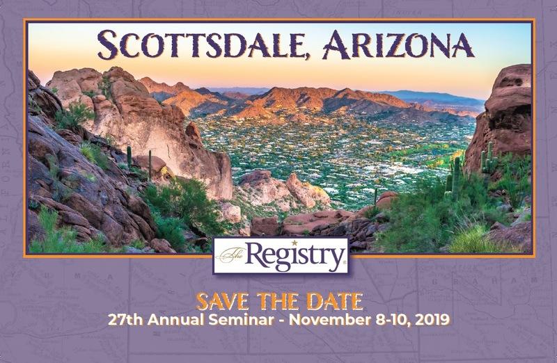 2019 Annual Seminar - Scottsdale, AZ - November 8-10th