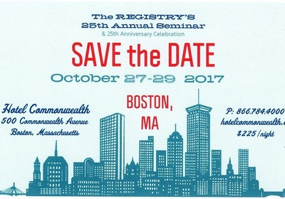 2017 Annual Seminar Boston, October 27-29