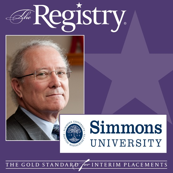 The Registry is pleased to announce the appointment of Russ Pinizzotto as Interim Provost at Simmons University