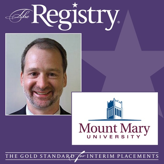 The Registry is pleased to announce the appointment of Joseph Wycoff as Interim Institutional Researcher at Mount Mary University