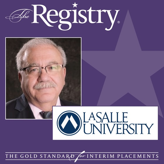The Registry is pleased to announce the appointment of Steve Siconolfi as Interim Provost at La Salle University