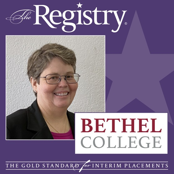 The Registry is pleased to announce the appointment of Amy Ruetten as Interim Vice President for Business and Finance at Bethel College