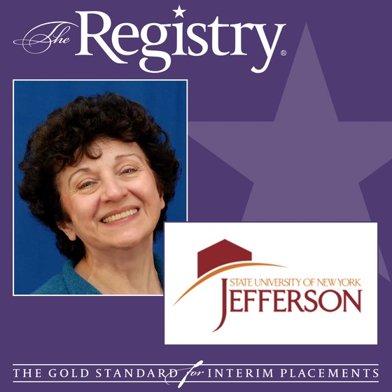 The Registry is pleased to announce the appointment of Maryrose Eannace as Interim Vice President of Academic Affairs at Jefferson Community College