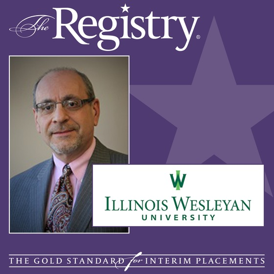 The Registry is pleased to announce the appointment of Jerry DeSanto as Interim Chief Information Officer at Illinois Wesleyan University