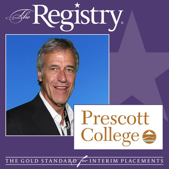 The Registry is pleased to announce the appointment of Jeffrey Handler as Interim Vice President of Enrollment Management at Prescott College