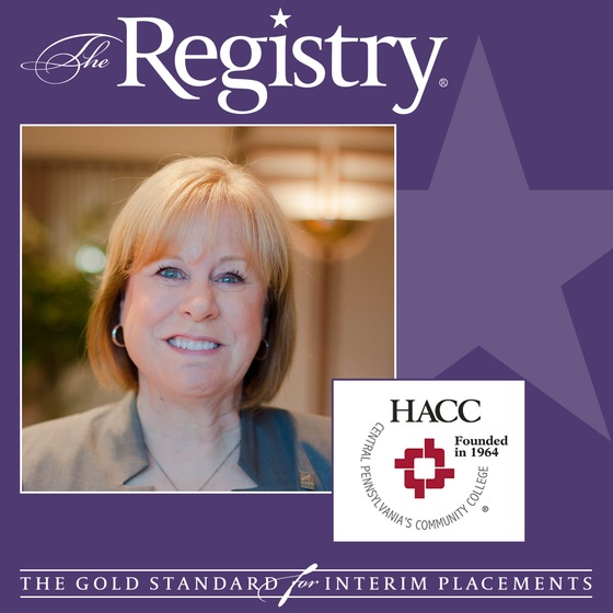 The Registry is pleased to announce the appointment of Ellen Horsch as Interim Vice President Human Resources at HACC, Central Pennsylvania's Community College