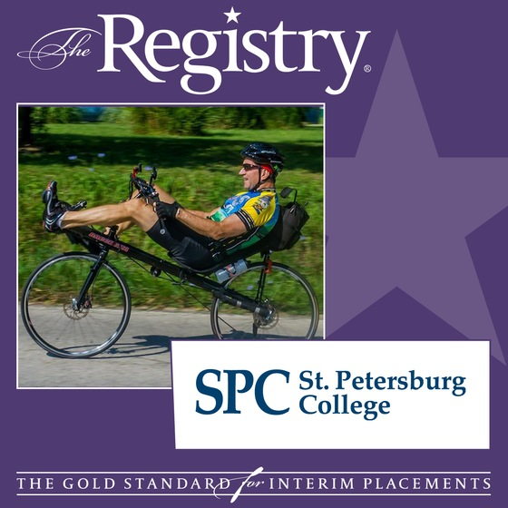 The Registry is pleased to announce the appointment of Larry Lewellen as Interim Associate Vice President of Human Resources at St. Petersburg College