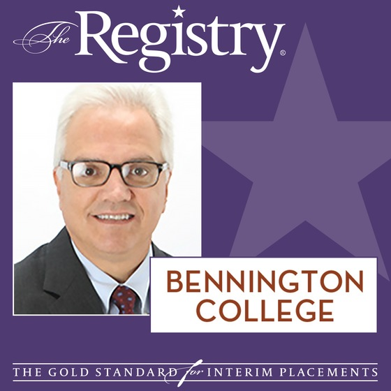 The Registry is pleased to announce the appointment of Rick DiFeliciantonio as Consultant to the VP of Enrollment at Bennington College