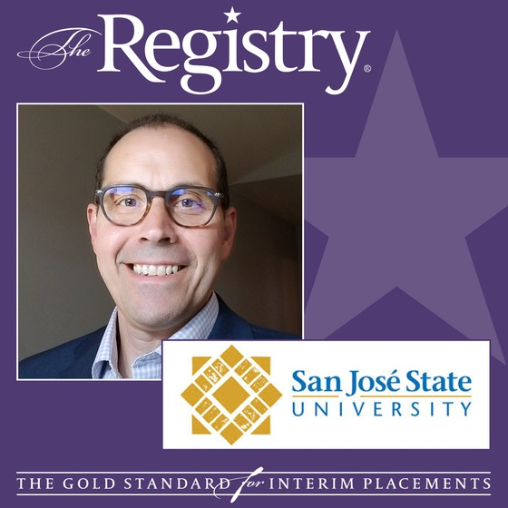 The Registry announces apppointment of Steve Schuetz as Interim Senior Advisor to the Vice President for Student Affairs at San Jose State University
