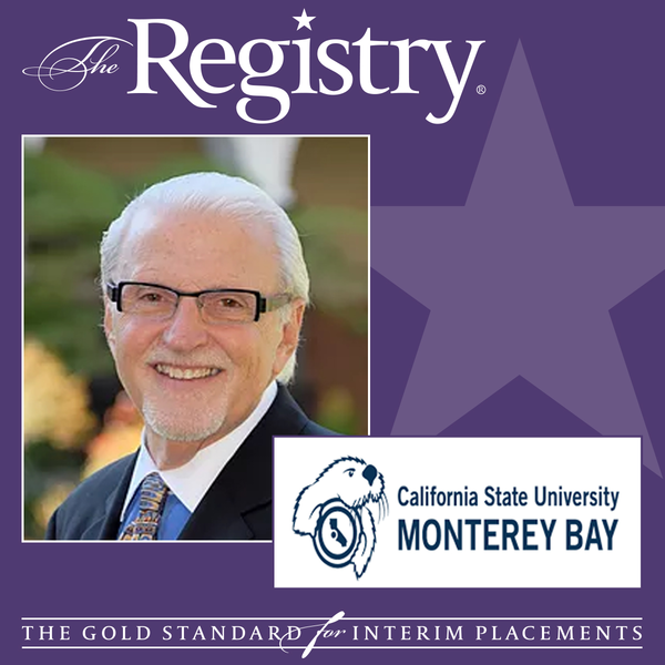 The Registry is pleased to announce the appointment of Registry Member Allan Hoffman as Interim Dean at California State University.
