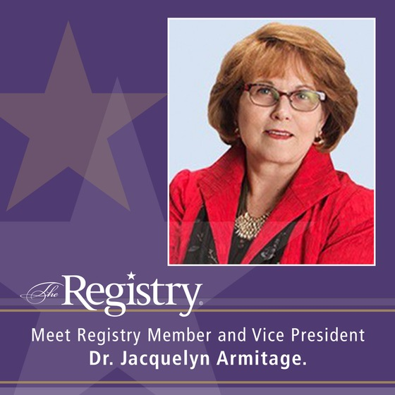 Meet Dr. Jacquelyn Armitage, Vice President of The Registry.