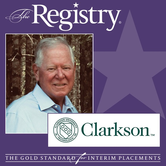 We are proud to announce that Member Bill McGarry has been named Interim Chief Financial Officer at Clarkson University.