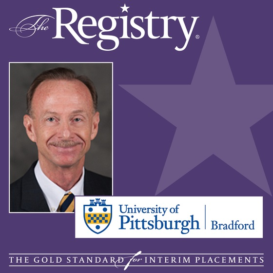 Congratulations to Registry Member Bill Schafer on his recent placement as Interim Vice President and Dean of Students at the University of Pittsburgh at Bradford.