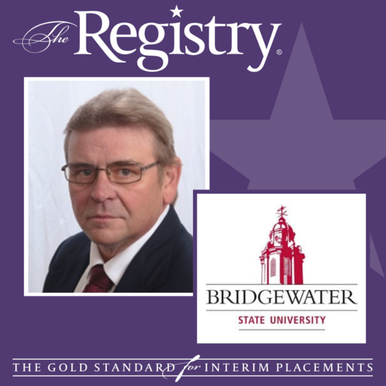 Congratulations to Registry Member Stephen Weiter on his placement as Interim Director of Library Services at Bridgewater State University.