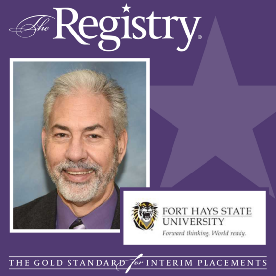 Congratulations to Registry Member Daniel Blankenship on his role as Interim Dean of the College of Arts, Humanities and Social Sciences at Fort Hays State University.
