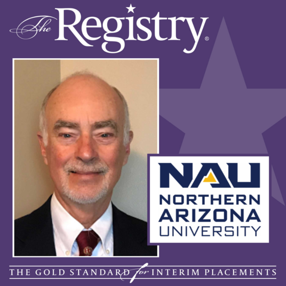 Congratulations to Registry Member Dean Smith on his assignment as Interim Vice President for Research at Northern Arizona University.