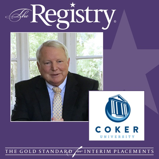 Congratulations to Member Grady Jones on his placement as Interim Vice President for Advancement for Coker University!