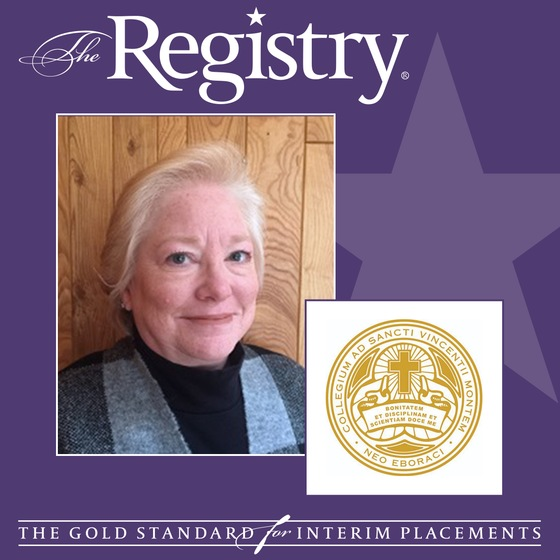 Congratulations to Registry Member Julie Luetschwager on her placement as Interim Dean of Nursing at the College of Mount Saint Vincent.