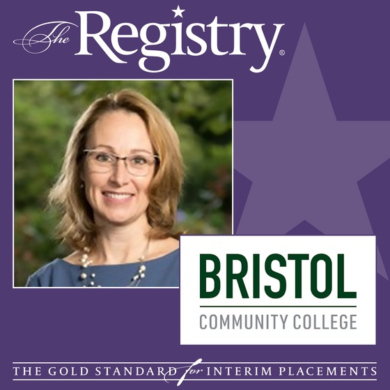 Congratulations to Registry Member Kristine Barnett on her placement as Interim Academic Affairs Consultant at Bristol Community College.