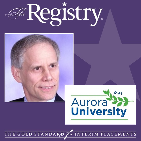 Congratulations to Registry Member Joe Deck on his placement as Interim Vice President of Information Technology Services at Aurora University.