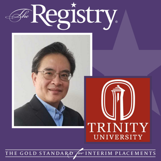 Congratulations to Registry Member Ben Lim on his placement as Interim Chief Information Officer at Trinity University.