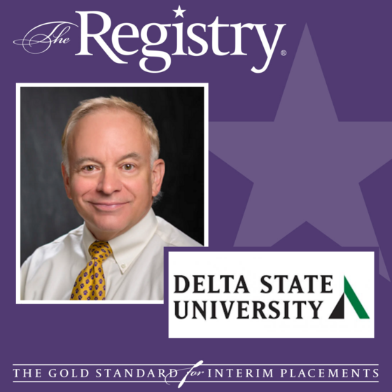 Congratulations to Registry Member Kurt Keppler on his placement as Interim Vice President of Student Affairs at Delta State University.