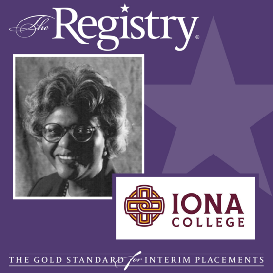 Congratulations to Registry Member Sheila Garland on her placement as Interim Nursing Director at Iona College.