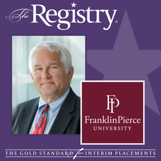 Best wishes to Registry Member Tim Cross on his placement as Special Advisor to the University for Advancement at Franklin Pierce University.