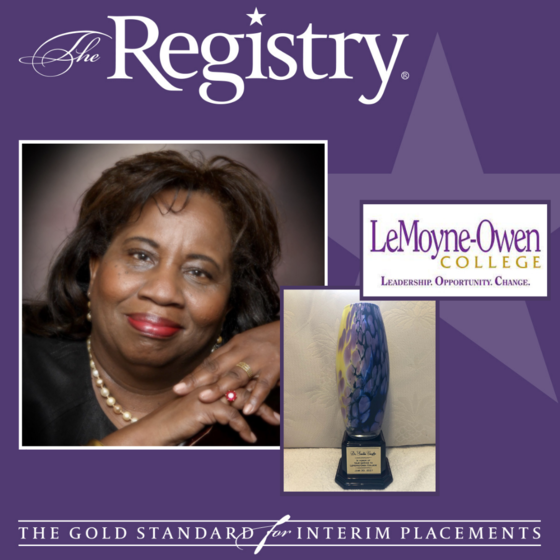 Please enjoy Registry Member Sandra Vaughn's reflection on being placed as Interim Vice President of Academic Affairs at LeMoyne-Owen College through The Registry.