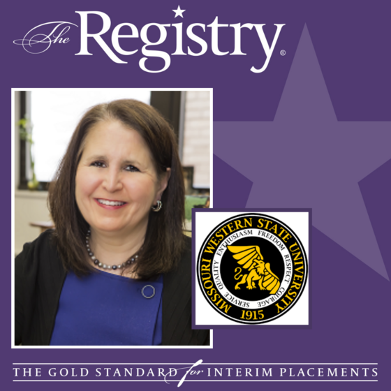 Best wishes to Registry Member Jean Ahwesh on her placement as Interim Senior Executive Director of the Missouri Western State University Foundation.