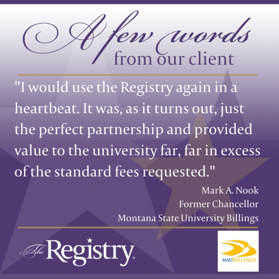 Building a relationship with Montana State University Billings is something we take much pride in. We were pleased to work with Former Chancellor Mark A. Nook and his team.