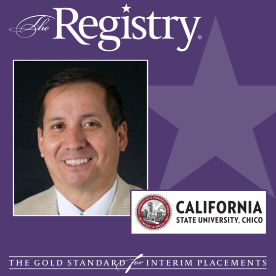 Best wishes to Registry Member Tom Rios on his placement as Interim Vice President for Student Affairs atCalifornia State University, Chico.