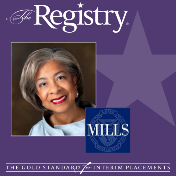 Best wishes to Registry Member Patricia Hardaway on her placement as Interim Provost at Mills College.