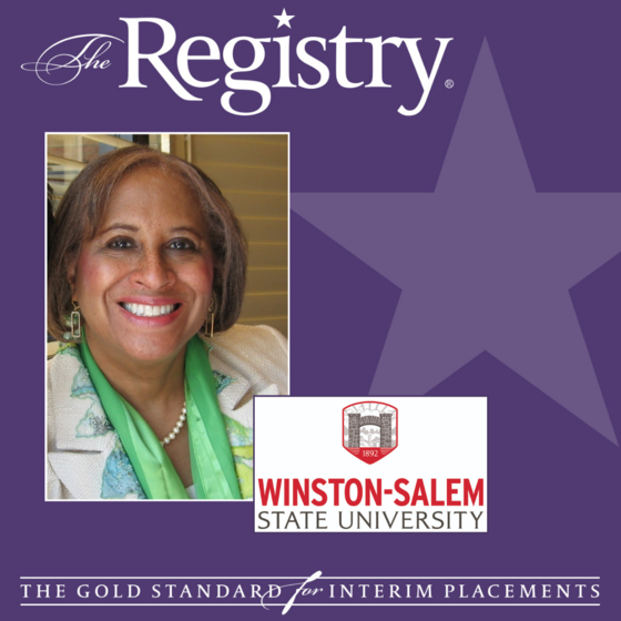 Congratulations to Registry Member Jackie Madry-Taylor on her placement as Interim Dean of the College of Arts, Sciences, Business and Education at Winston-Salem State University.