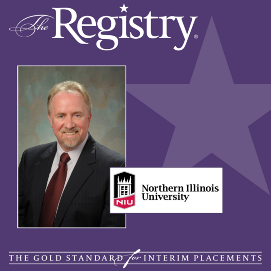 Best wishes to Registry Member Charlie Fey with his placement as Interim Vice President for Student Affairs at Northern Illinois University.