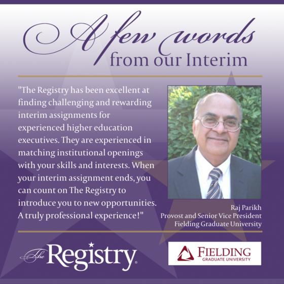 Thank you to Registry Member Raj Parikh for this lovely testimonial.