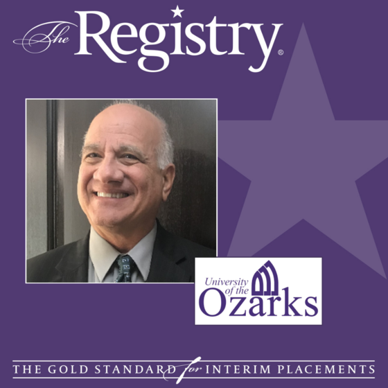Best of luck to Registry Member Jeff Elwell as he continues his placement as Interim Vice President for Academic Affairs and Dean of Humanities & Fine Arts at the University of the Ozarks.